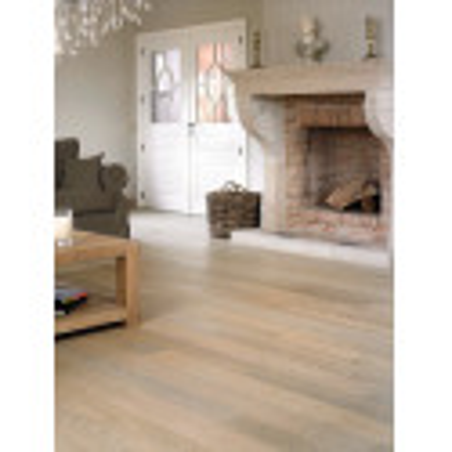 Parquet contrecollé CASTELLO Quickstep - chêne cérusé blanc mat