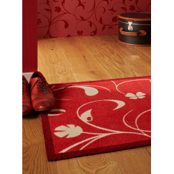 Tapis de propreté - paillasson rouge JARDIN DE PLANTES - Lars Contzen