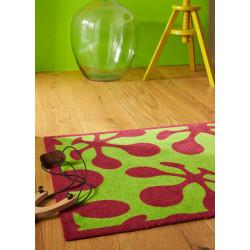 Tapis de propreté - paillasson à motifs fushia et vert LE POP - Lars Contzen