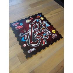 Tapis Disney Enfant - Cars : Circuit puzzle - 93x93cm