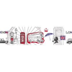 Frise adhésive enfant London rouge noir - ONLY BOYS- Caselio - OLB64788099
