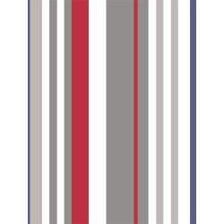 Papier peint à rayures bleu et rouge - Only Boys - Caselio