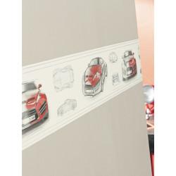 Frise papier peint Voitures rouge - Only Boys - Caselio