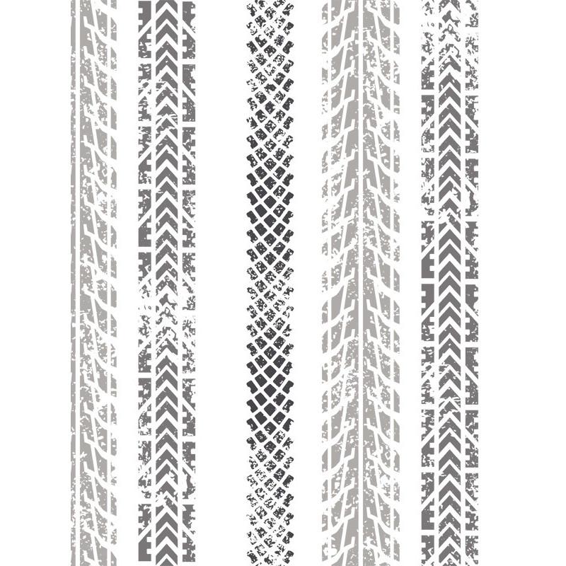 Papier peint à motif Traces de pneus - Only Boys - Caselio