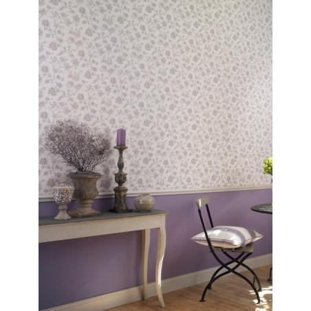 Papier peint à motifs Fleurs mauve - Chantilly - Casadeco