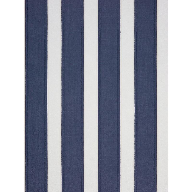 Papier peint Rayure Couture Bleu - Marina - Casadeco