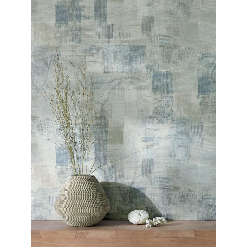 papier peint effet de mati re bleu taupe marina. Black Bedroom Furniture Sets. Home Design Ideas