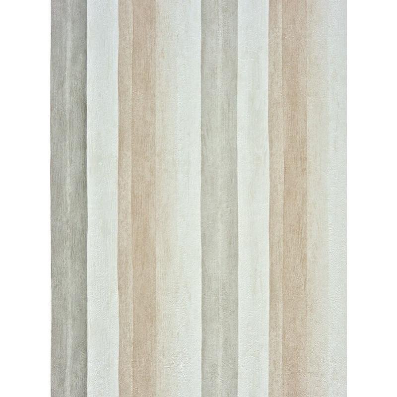 Papier peint Rayure Aquarelle Gris/Taupe - Marina - Casadeco