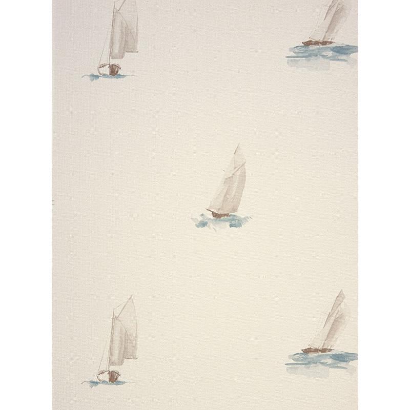 Hervorragend Papier peint à motif Bateau Aquarelle Turquoise - Marina  KO08