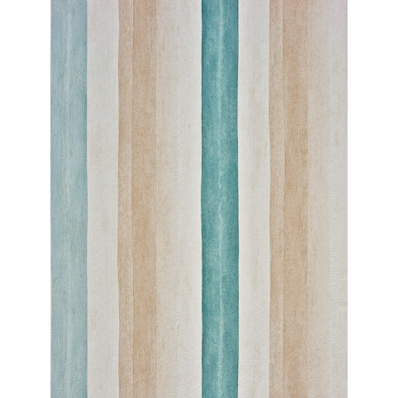 Papier peint Rayure Aquarelle Turquoise - Marina - Casadeco