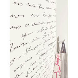 Papier peint à motif écritures Poésie - Love - Caselio