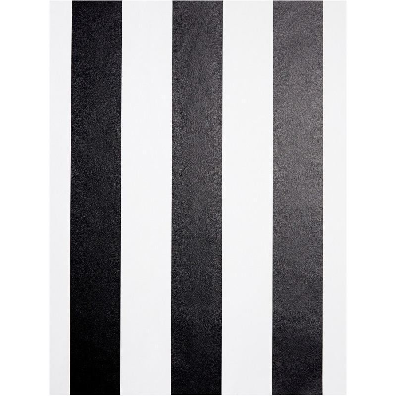 Papier peint Rayures noir et blanc - LOVE - Caselio - LOV64029087