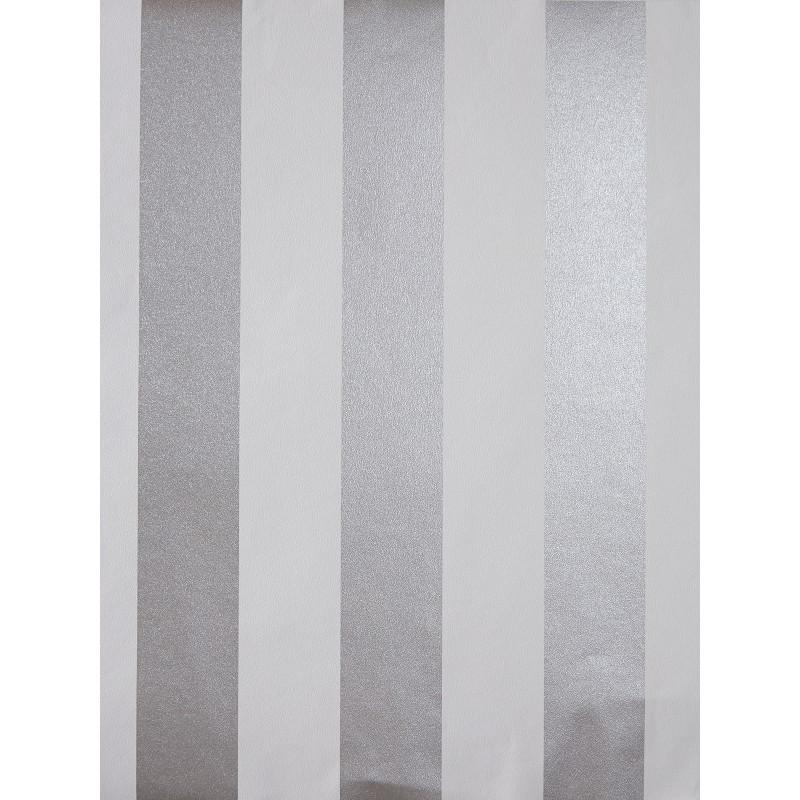 Papier peint à motif Rayures bicolores grises - Love - Caselio