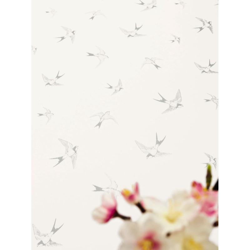Papier peint Grace argent - LOVE - Caselio - LOV63979041