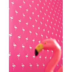 Papier peint à motif Flamingo - Love - Caselio