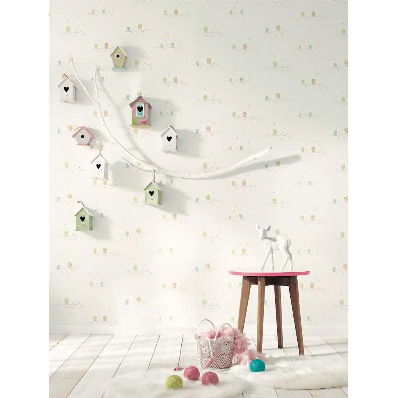Papier Peint Chouettes - ARC-EN-CIEL - Casadeco - CFT25807156
