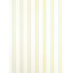Papier Peint à rayures bleu, vert et gris - Arc-en-ciel - Casadeco