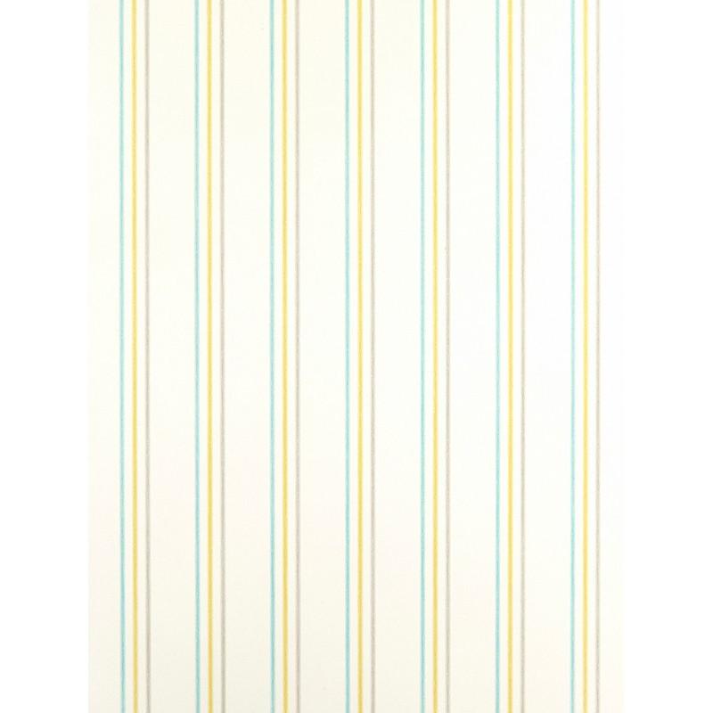 Papier Peint Rayures bleu, vert et gris - ARC-EN-CIEL - Casadeco - CFT25567206