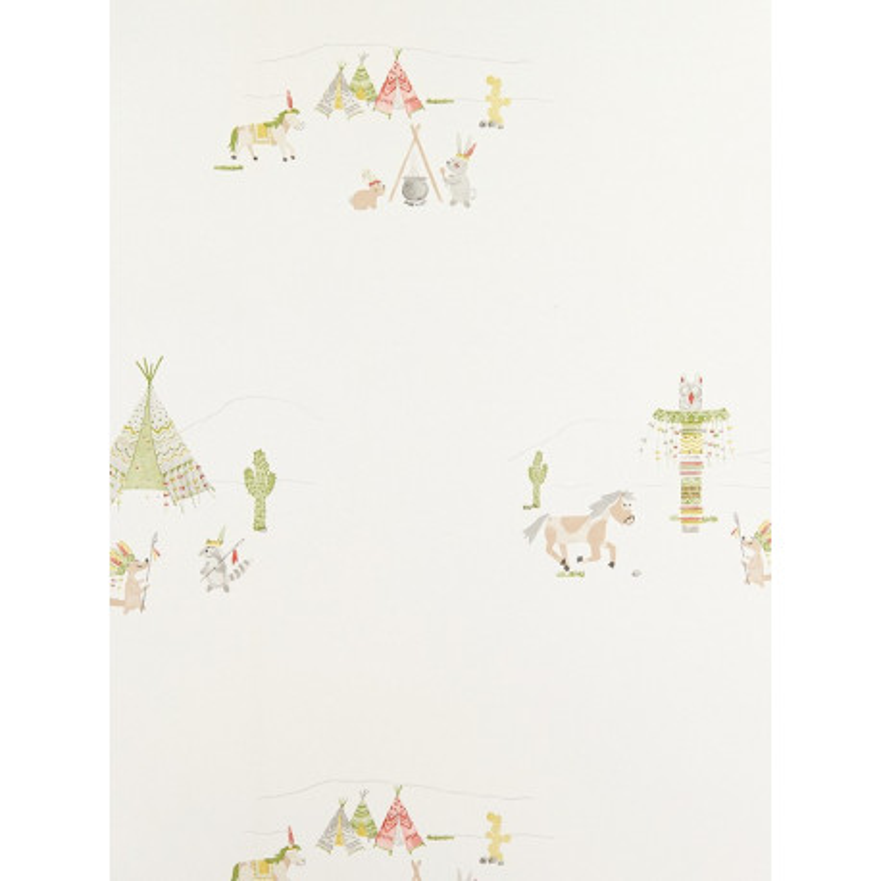 Papier Peint Indiens vert - ARC-EN-CIEL - Casadeco - CFT25467329