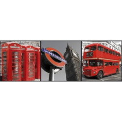 Box Art London - 3 toiles 20x20cm - Graham & Brown