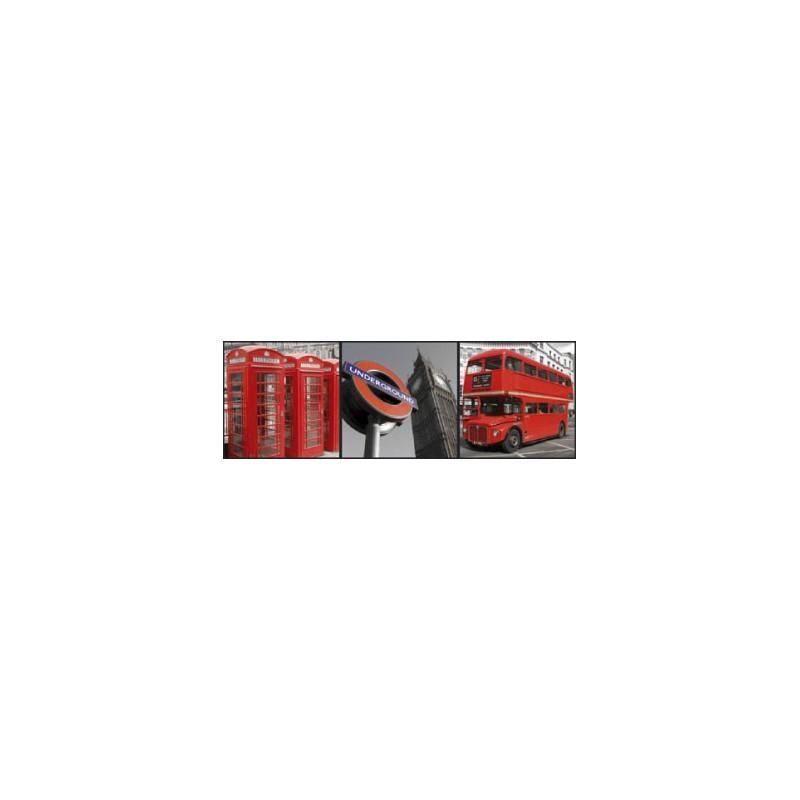 Box Art London - 3 toiles 20x20cm - Graham & Brown
