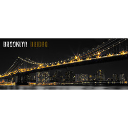 Toile Imprimée Brooklyn Bridge - 40x100cm - Graham & Brown