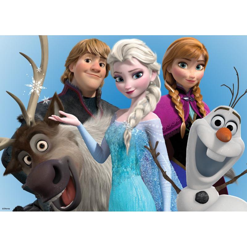 Toile imprimée Frozen : le groupe Reine des neiges - 50x70cm - Graham & Brown