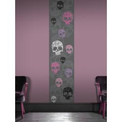 Lé Unique Tête de mort rose - 50x250cm - Graham & Brown