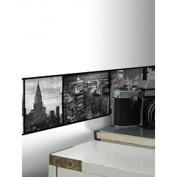 Frise Adhésive New York Noir et Blanc - 500x15cm - Graham & Brown