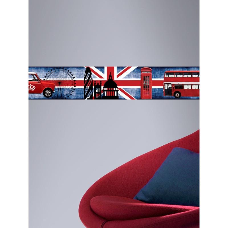 Frise Adhésive UK Mini - 500x15cm - Graham & Brown
