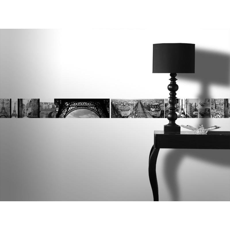 frise adh sive paris romantique en noir et blanc graham. Black Bedroom Furniture Sets. Home Design Ideas