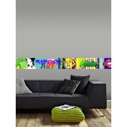 Frise Adhésive Pop Color - 500x15cm - Graham & Brown