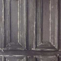"""Papier peint METAPHORE effet """" Moulure porte """" gris par Caselio"""