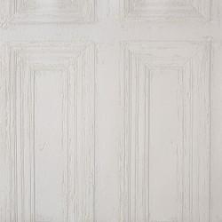 """Papier peint METAPHORE effet """" Moulure porte """" blanc par Caselio"""