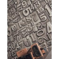 """Papier peint METAPHORE effet """" chiffres """" par Caselio"""