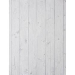 """Papier peint METAPHORE effet """" teck """" blanc par Caselio"""