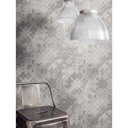 """Papier peint METAPHORE effet """" mosaïque dentelle """" gris par Caselio"""
