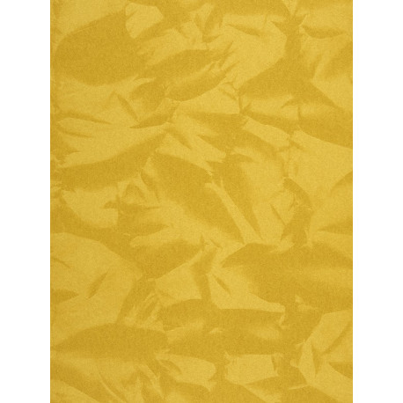 """Papier peint EMPIRE STATE effet """" froissé """" jaune par Casadeco"""