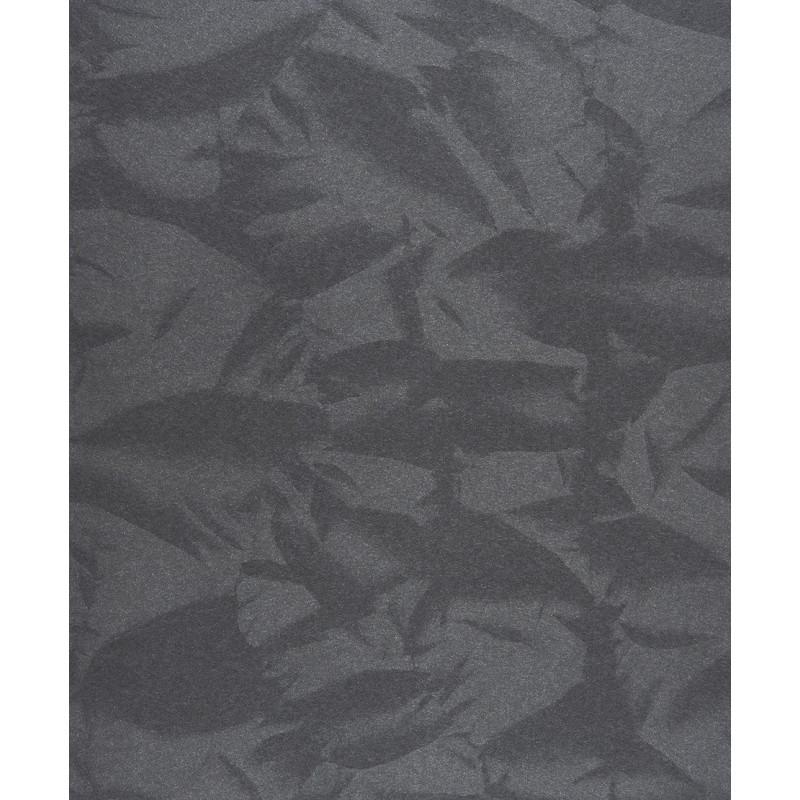 """Papier peint EMPIRE STATE effet """" froissé """" noir par Casadeco"""