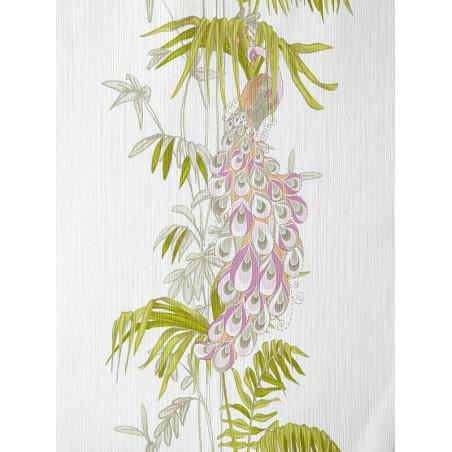 Papier peint Paon rose et vert - AMAZONIA - Caselio - AMZ66423000