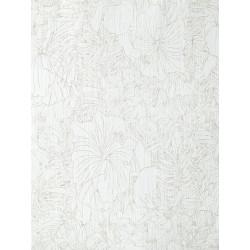 Papier peint amazonia fleurs blanc et gris par caselio - Papier peint gris et blanc ...
