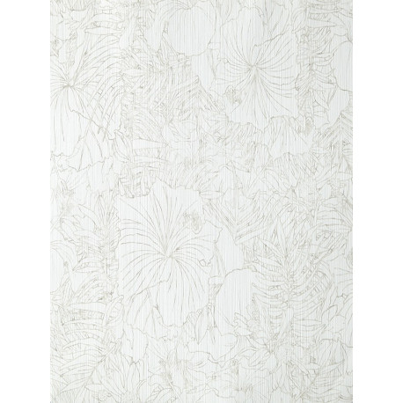 papier peint amazonia fleurs blanc et gris par caselio. Black Bedroom Furniture Sets. Home Design Ideas