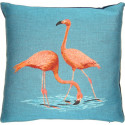 Coussin Duo de flamants roses buvant - Flamingo - FS HOME par Booster