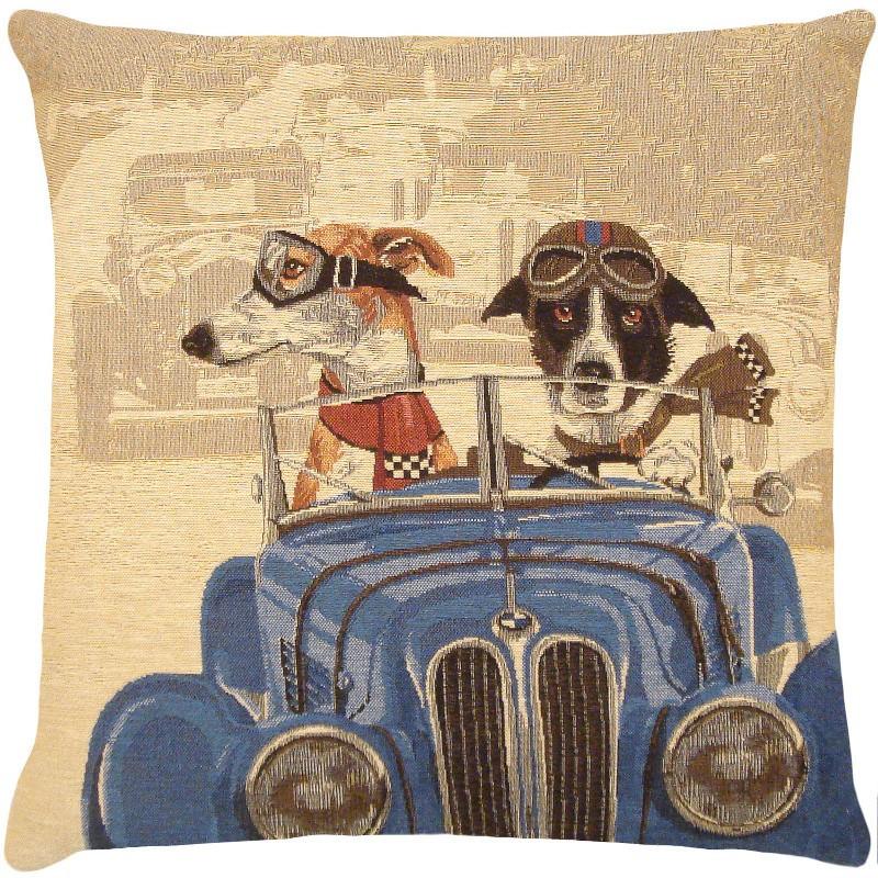 Coussin FS HOME Dogs race bleu par Booster