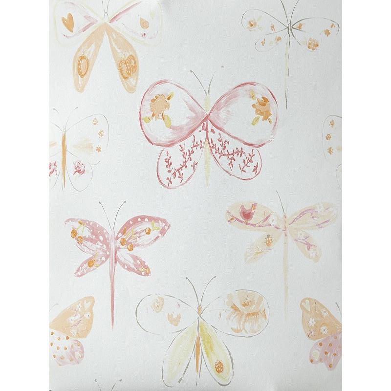 """Papier peint OH LA LA """" Libellules """" orangé par Caselio"""