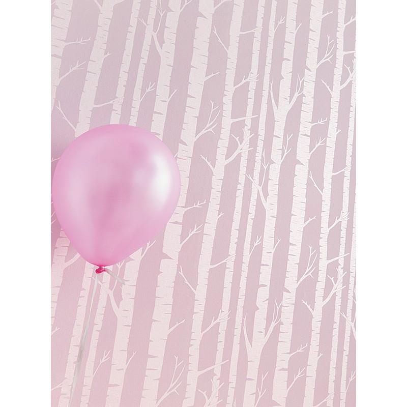 """Papier peint OH LA LA """" féerie """" rose pastel par Caselio"""