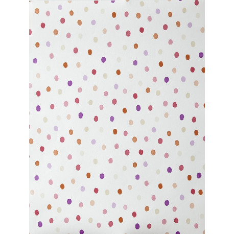 """Papier peint OH LA LA """" Confettis """" orange, violet et rouge par Caselio"""