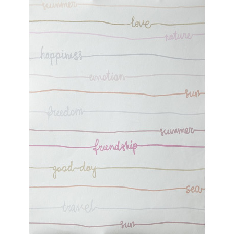 """Papier peint OH LA LA """" stripe words """" tons pastels par Caselio"""