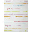 "Papier peint OH LA LA "" stripe words "" multicolore par Caselio"