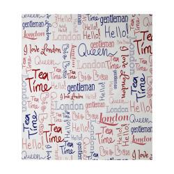 """Papier peint OH LA LA """" wording london """" rouge et bleu par Caselio"""